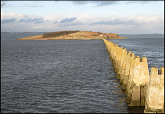 Sea Parting of Cramond Island